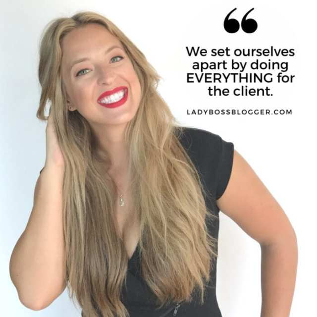 Female entrepreneur lady boss blogger Chantelle Lamoureux party planner
