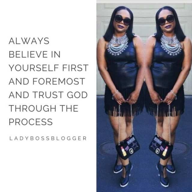Female entrepreneur lady boss blogger Latashia Holmes self published author