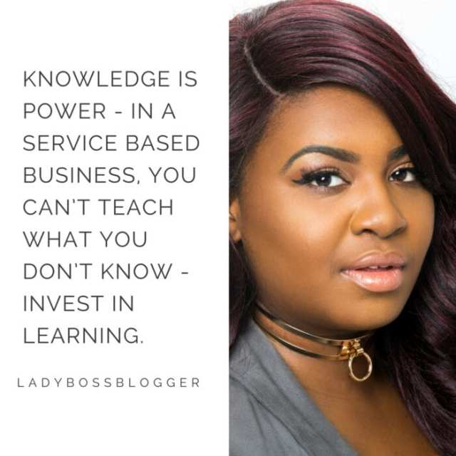 Female entrepreneur lady boss blogger Brandy Kennedy content creator of graphics and websites
