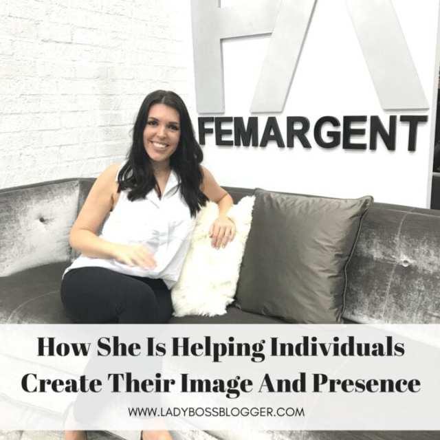 Female entrepreneur lady boss blogger Christina Elmen brand consultant