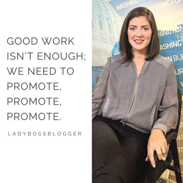 Female entrepreneur lady boss blogger Erin Vilardi women in politics