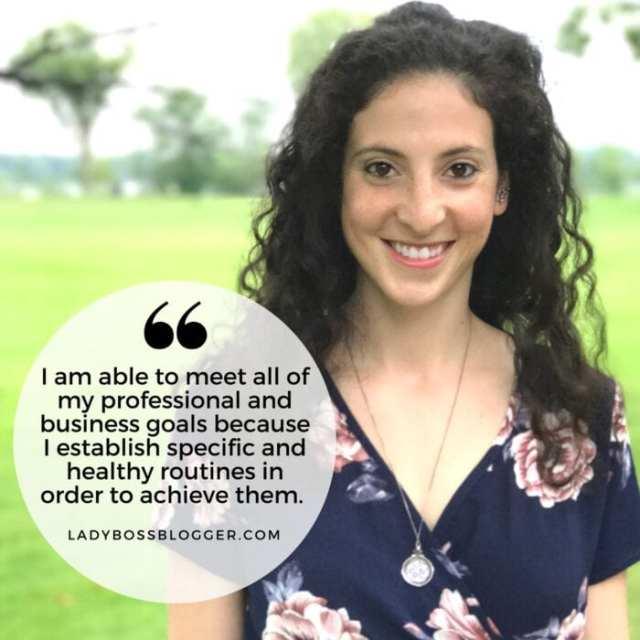Female entrepreneur lady boss blogger Zoe Schwartz personal fitness trainer