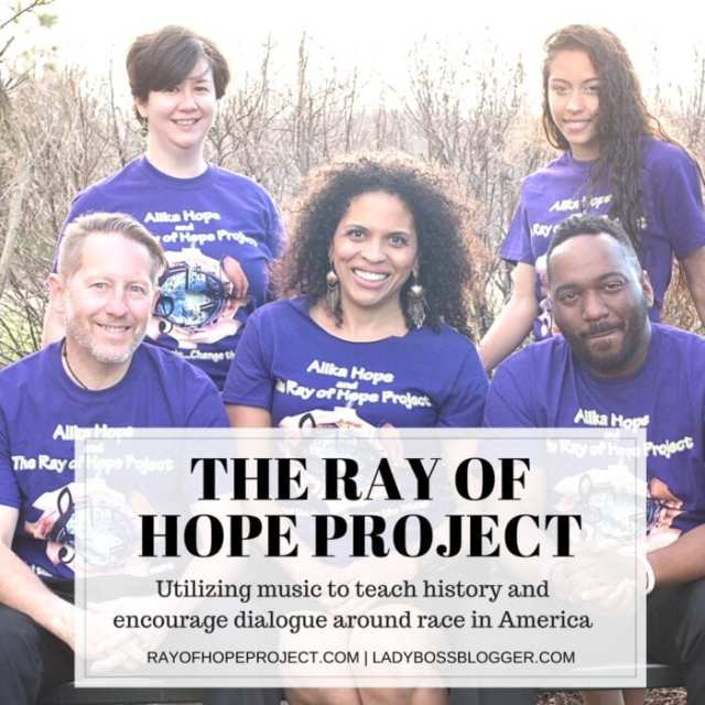 Female entrepreneur lady boss blogger Alika Hope The Ray of Hope Project