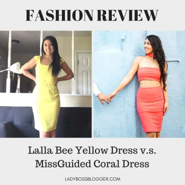 Lalla Bee Yellow Dress review on ladybossblogger written by Elaine Rau