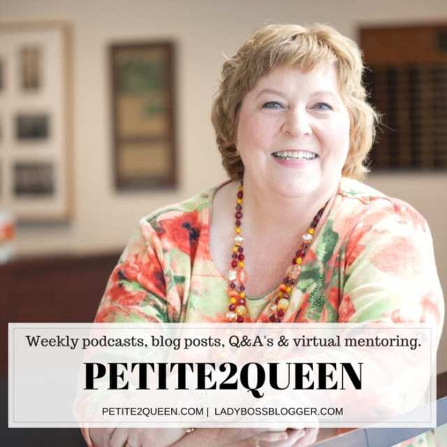 Female entrepreneur interview on ladybossblogger featuring Lynn Whitbeck Petite2Queen