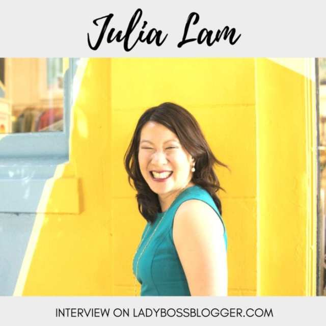 Female entrepreneur interview on ladybossblogger featuring Julia Lam bringing fashion and function together for the working woman