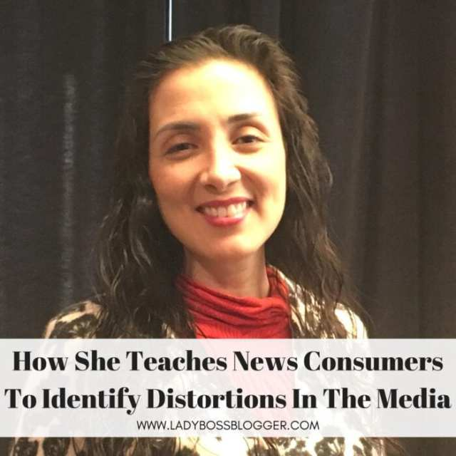 Female entrepreneur interview on ladybossblogger featuring Rosa Laura Junco Teaches News Consumers To Identify Distortions In The Media #media #news #newsoutlets