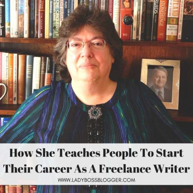 Female entrepreneur interview on ladybossblogger featuring Moira Allen on How To Start Your Career As A Freelance Writer