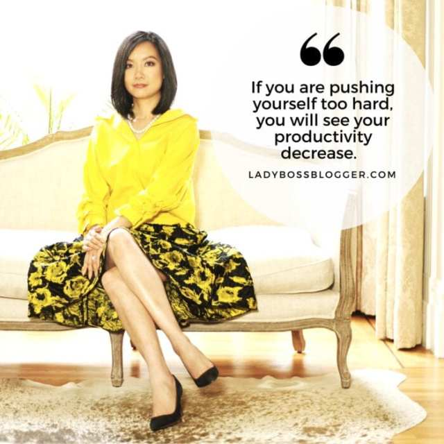 If you are pushing yourself too hard, you will see your productivity decrease.