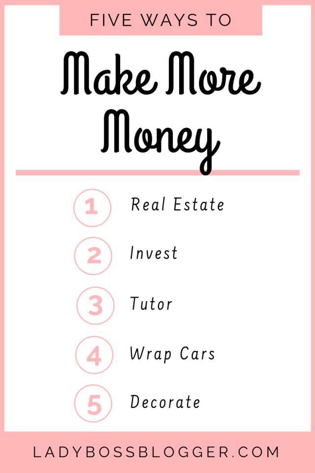 5 Easy Ways To Make More Money Elaine Rau founder of LadyBossBlogger.com