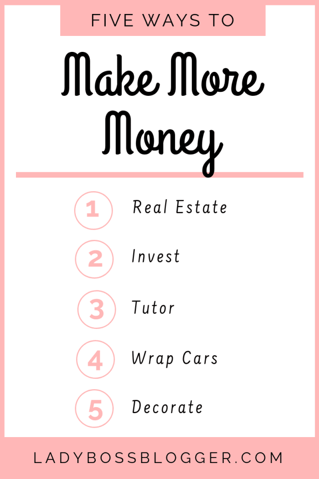 5 Easy Ways To Make More Money Elaine Rau founder of LadyBossBlogger.com