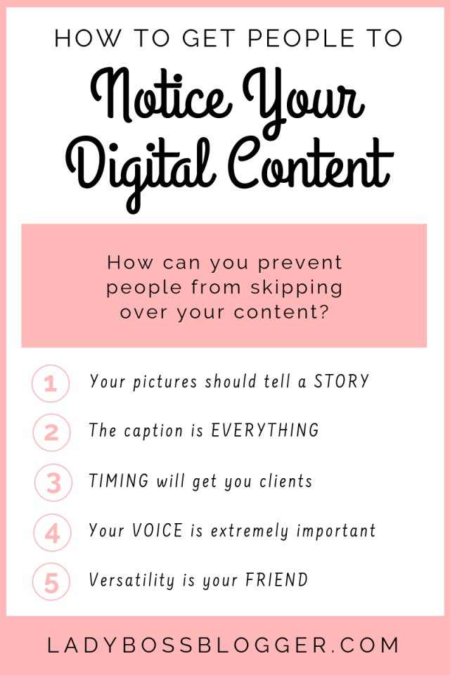 How To Get People To Notice Your Digital Content Elaine Rau founder of LadyBossBlogger.com