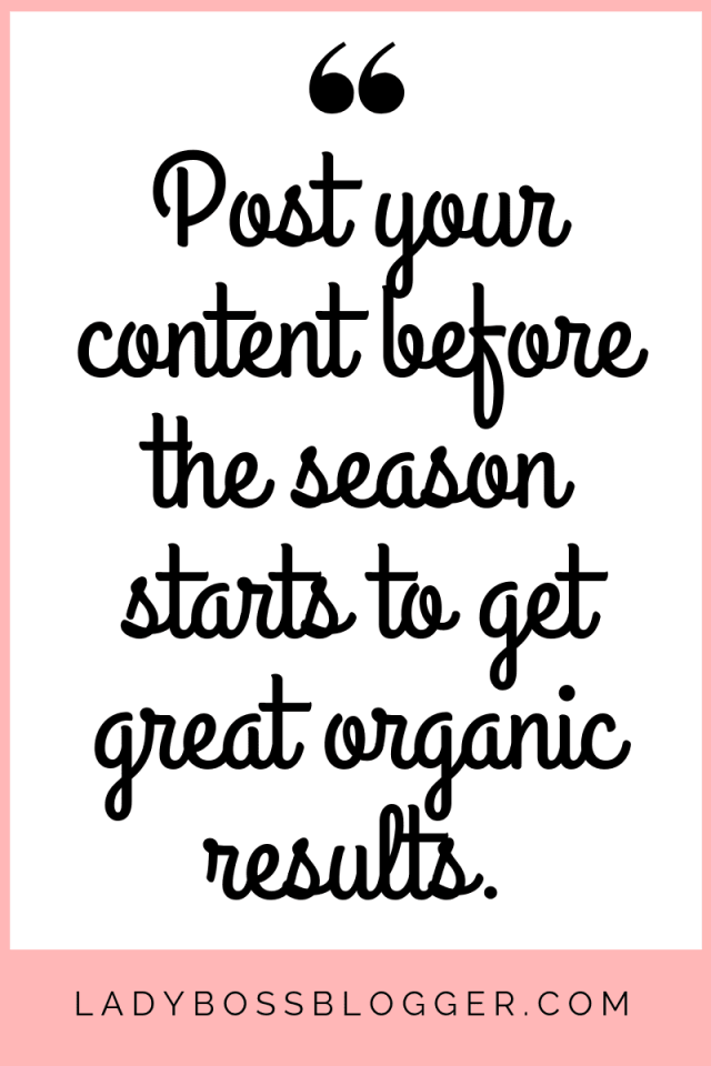 "post just a little bit earlier than the season ""starts"","
