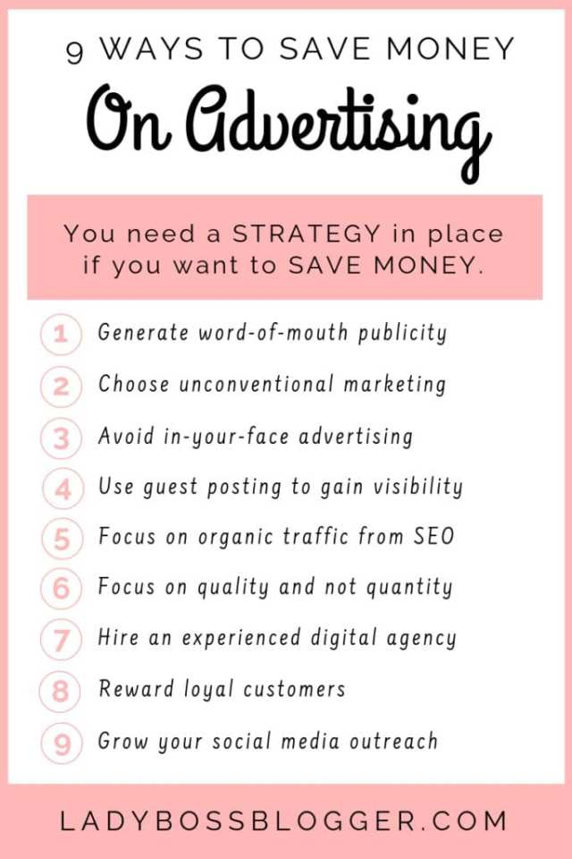 9 Ways Small Businesses Can Save Money On Advertising MoneyladyBossBlogger.com