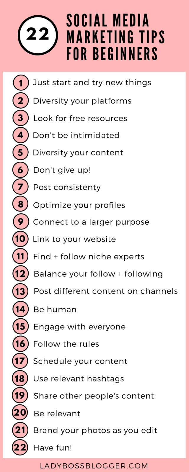 22 Social Media Marketing Tips For Beginners