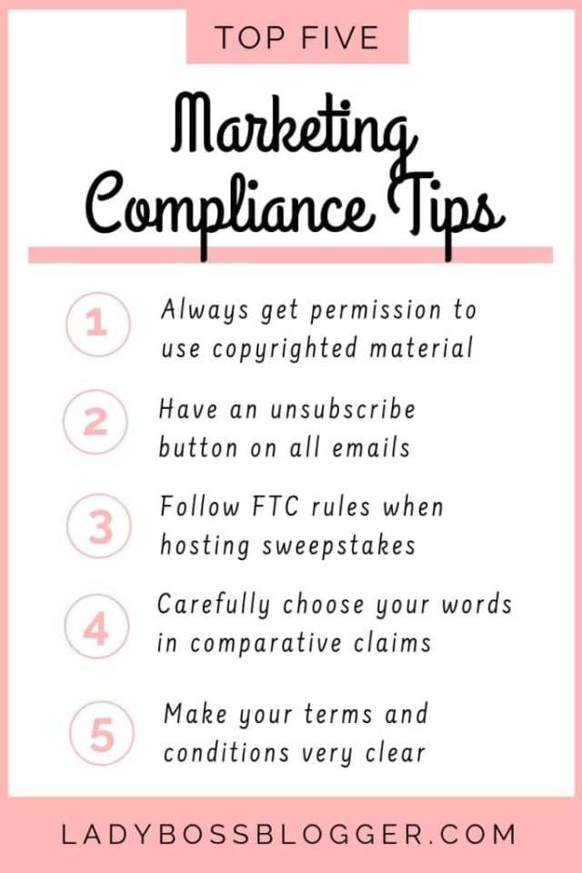 5 Marketing Compliance Tips You Need To Know