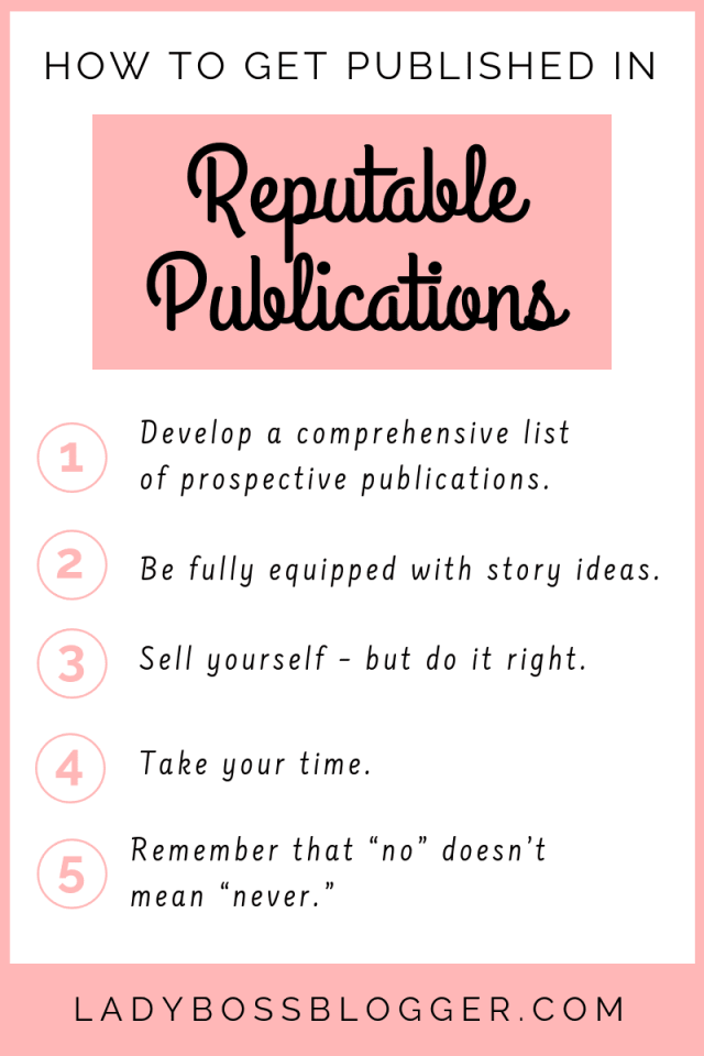 How To Get Published In Reputable Publications