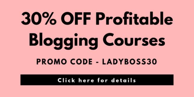 30% OFF Profitable Blogging Courses