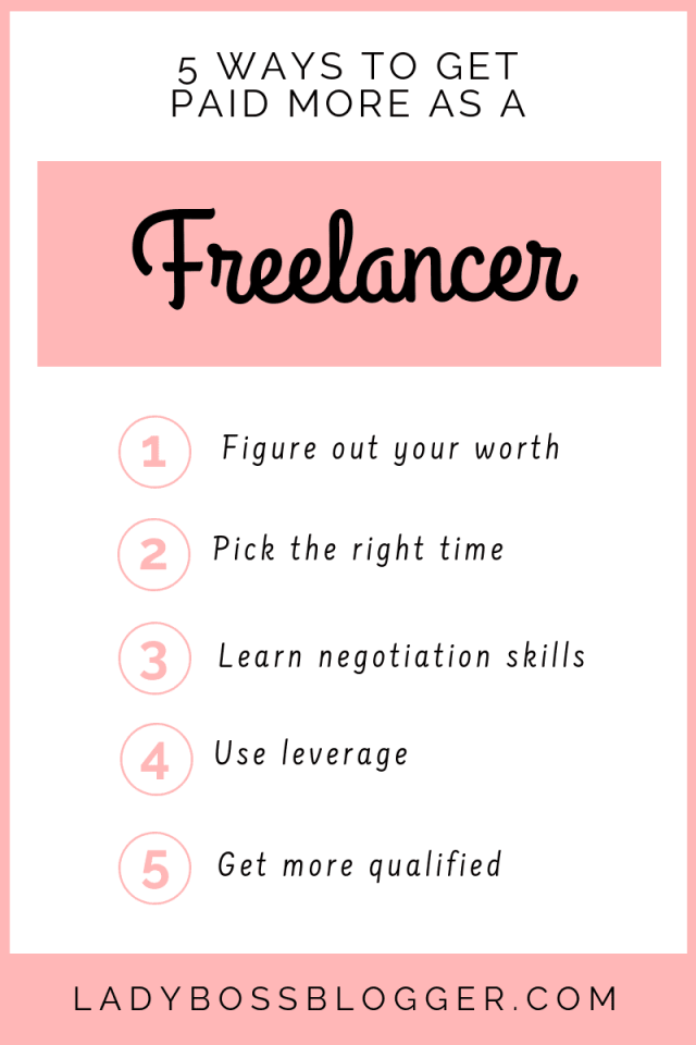 5 Ways To Get Paid More As A Freelancer