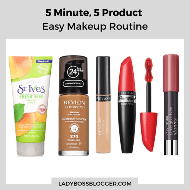 5 product beauty routine ladybossblogger