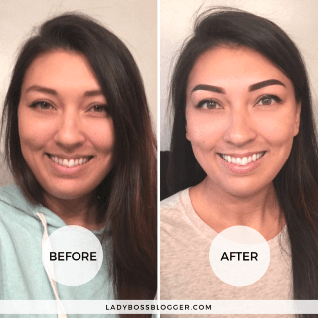 ombre powder brows ladybossblogger elaine rau