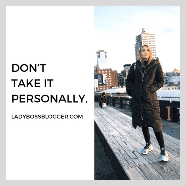 Don't take it personally advice from female entrepreneurs on ladybossblogger