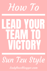 How To Lead Your Team To Victory