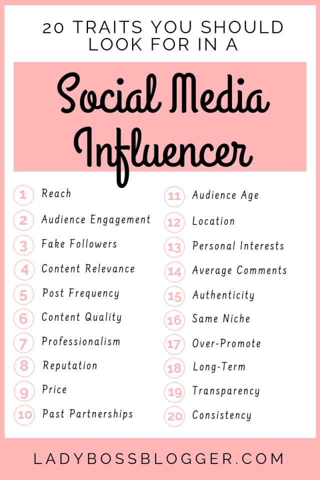 25 Things You Should Look For In A Social Media Influencer LadyBossBlogger.com (1)