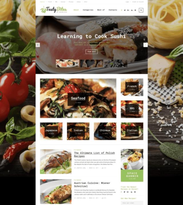 TastyBites WordPress Themes for blogs
