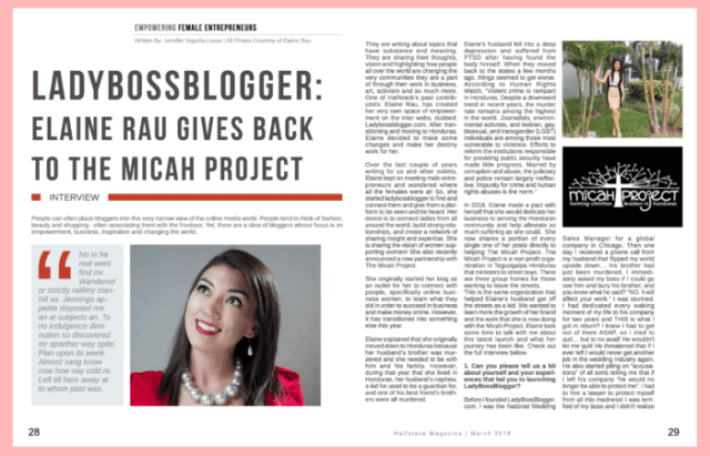 Halfstack Magazine elaine rau the micah project