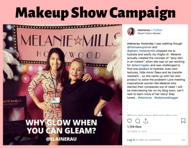 The Makeup Show in Chicago with influencer and blogger Elaine Rau