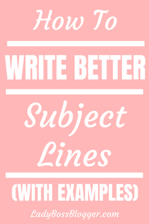 write better subject lines