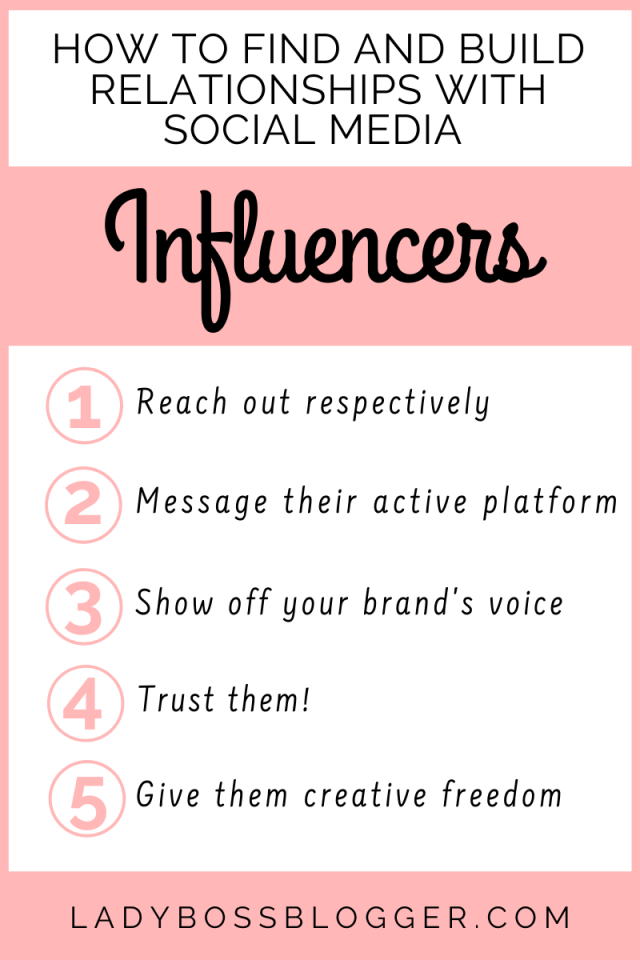 How To Find And Build Relationships With Social Media Influencers ladybossblogger.com (1)