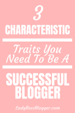 Successful Blogger Characteristic Traits 1