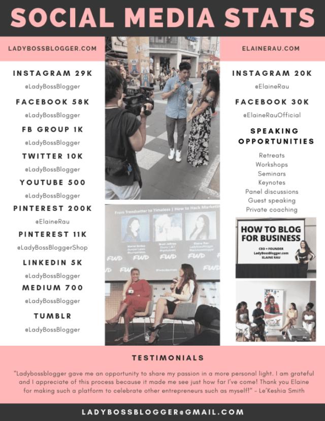 media kit ladybossblogger elaine rau