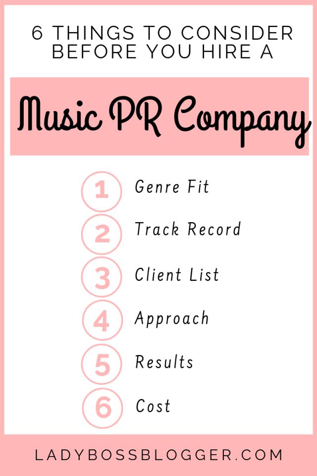 music PR company LadyBossBlogger.com