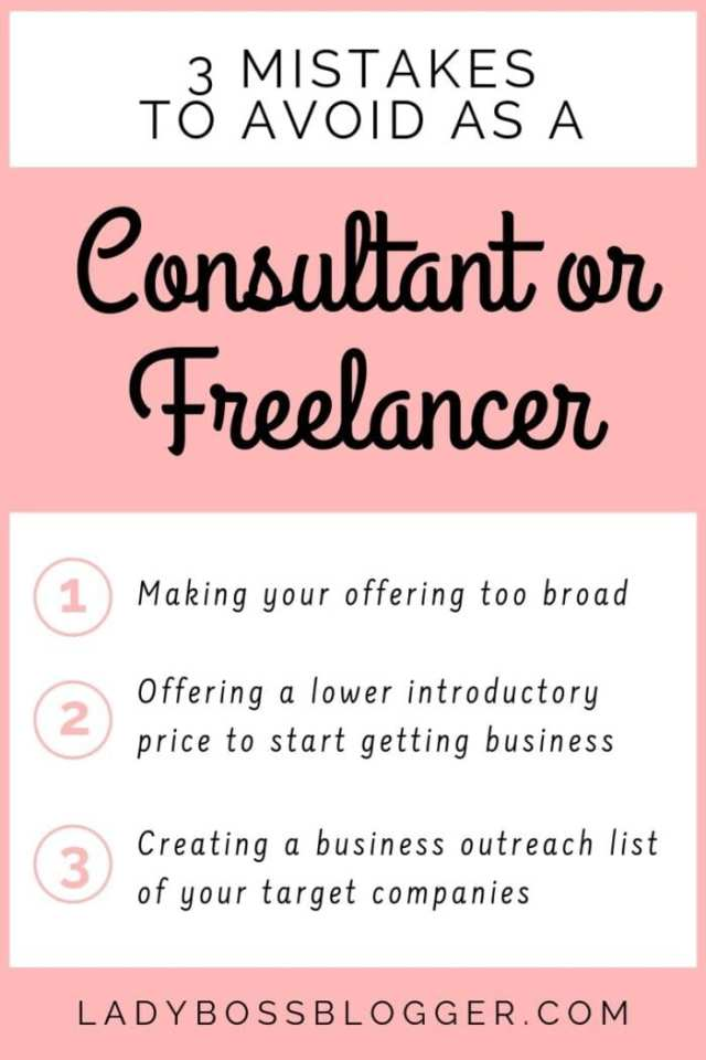 Consultant Or Freelancer mistakes ladybossblogger LadyBossBlogger.com