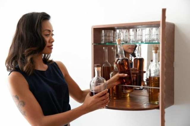 KARVD Arch Liquor Cabinet