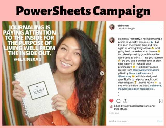 elaine rau influencer campaign ladybossblogger 2