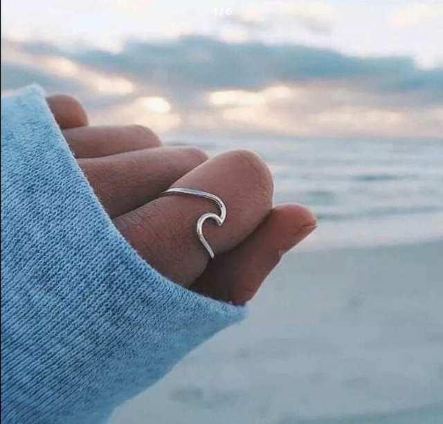 etsy wave ring geometric handmade