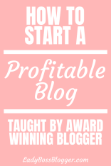 how to start a profitable blog ladybossblogger
