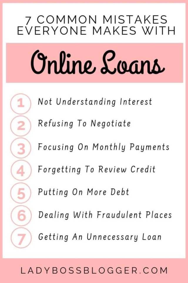online loan mistakes ladybossblogger 1
