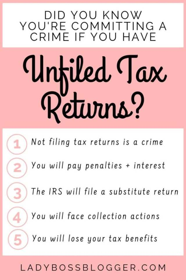 unfiled taxes ladybossblogger LadyBossBlogger.com