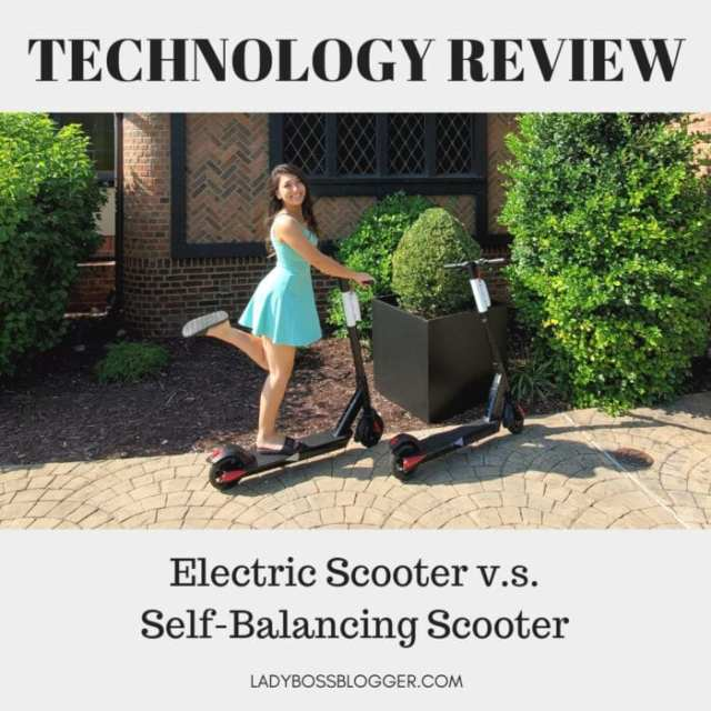 Electric Scooter v.s. Self-Balancing Scooter review ladybossblogger.com