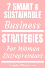 smart sustainable business strategies ladybossblogger