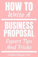 business proposal ladybossblogger