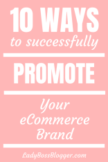 Successfully Promote Your eCommerce Brand