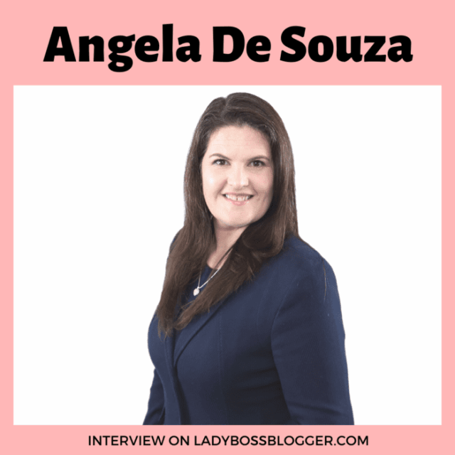 Angela De Souza interview on ladybossblogger