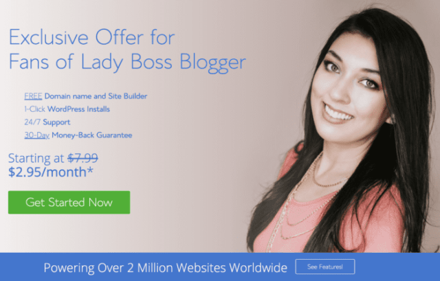 blue host how to start a blog ladybossblogger elaine rau