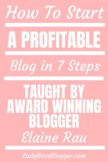 start a blog ladybossblogger elaine rau